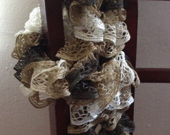 Camouflage Ruffle Scarf