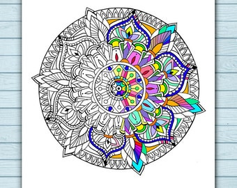 Printable Simple Mandala Coloring Page