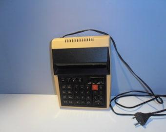 Soviet calculator Elektronika MK44 accounting statistical economic planning accounting made in USSR 80s school supplies decor