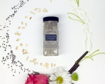 Lavender Cleansing Powder--French Green Clay--Acne FIghting--4 oz