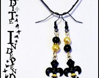 Lys flowers hand-painted earrings