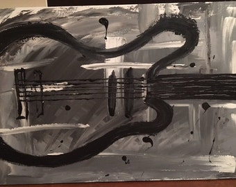 "Abstract Guitar - 36""x24"""