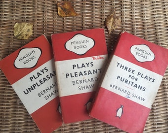 Bernard Shaw - collection of 3 titles - vintage Penguin books - Plays Pleasant/ Plays Unpleasant/ Three Plays for Puritans - 560/561/562