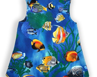 Under The Sea Baby Pinafore Dress