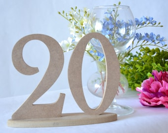 Table numbers Wooden Table Numbers Set 1-20 Wedding table numbers Wedding decor Table decor Wedding wooden numbers Rustic table numbers