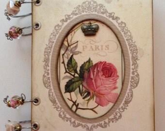 Vintage Paris themed journal, travel journal