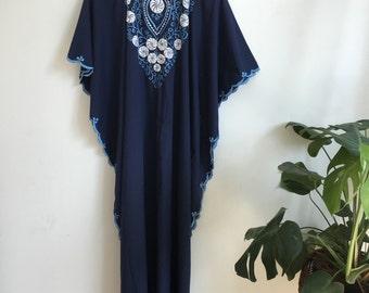 1970s caftan dress