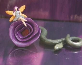 Polymer Clay Fairy, Miniature Pixie