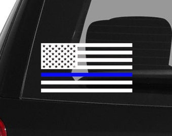 Thin Blue Line Decal Police Decal Blue Lives Matter Law Enforcement Car Decal Police Lives Matter Police Officer American Flag Yeti Cup