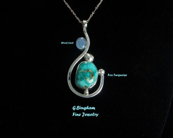 Opal and Turquoise Pendant GB 026