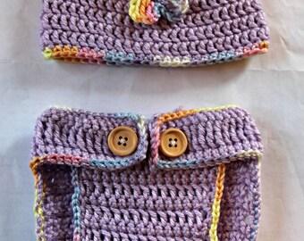 Lavender Crochet Baby Hat