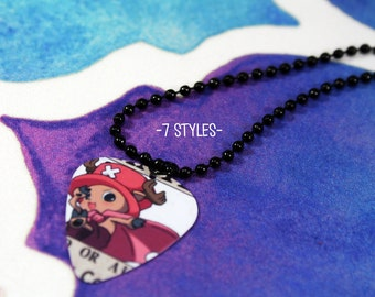 One Piece Guitar Pick Necklace - 7 styles -  Anime & Manga Necklaces