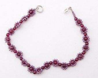 Sweet bracelet with Garnet beads