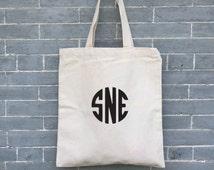 Personalized Monogram Bag,  Market Bag,  Eco friendly,  Organic Tote, Beach Bag, Bridesmaids Gift Bag, Groomsmen Bag, Birthday Gift