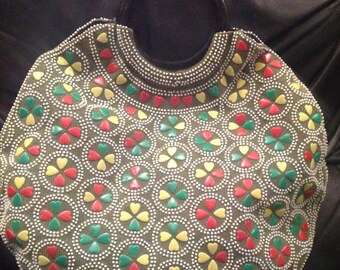 1950s / 60s Beaded multi coloured Vintage Handbag
