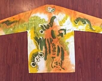 Batik Direct Application Tee shirt Long sleeved.