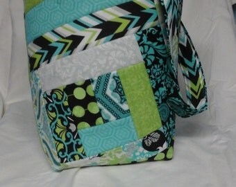 Quilted over the shoulder bag