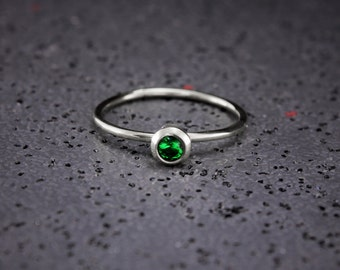 Small Emerald Ring Etsy