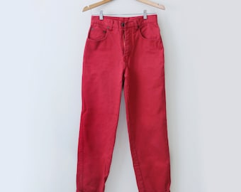 Red High Waisted Jeans