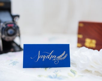 brand place chic and rustic calligraphy
