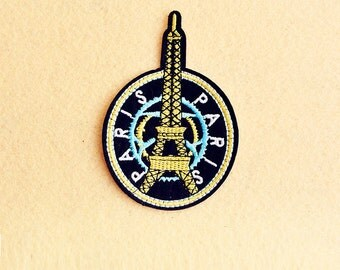 PARIS Patch - Iron on patch -Sew On patch - Embroidered Patch (Size 6.8cm x 10cm)