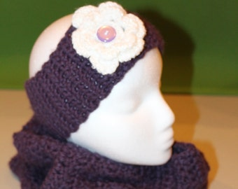 Crochet Cowl and Headband