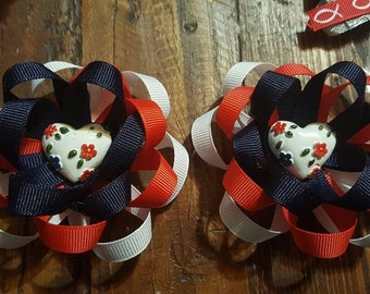 4th of July Pigtail Bow