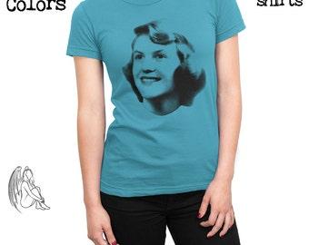 Women's Sylvia Plath T-shirt, Tee, American Apparel, Sylvia Plath Poems, Quotes, Death, The Bell Jar, Virginia Woolf, Cute Gift