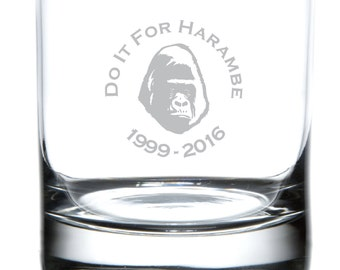 Do It For Harambe - Laser Etched Drinkware