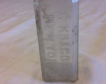 Antique Apothecary Bottle, C. KILGORE NEW YORK