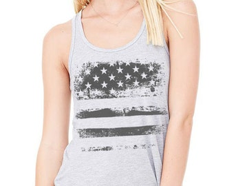 American flag Flowy Tank Top