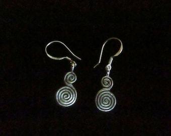 Swirling Dangle Earrings
