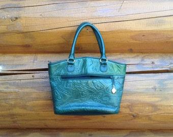 PURSE purse green leather purse