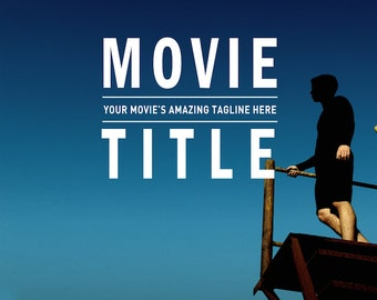 Movie Poster Template for Photoshop