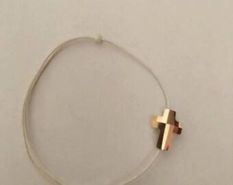 Croix swarovski dorée