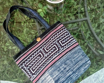 Indigo Embroidered Tote