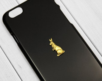 Cute iPhone 7 Cases iPhone 7 Plus Bunny Gold iPhone 6s Case, Rabbit iPhone 6s, Bunny iPhone 6 Plus, iPhone 6s Plus Girly, Rabbit