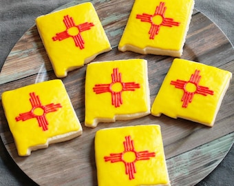 New Mexico, New Mexico Cookies, State Cookies, New Mexico State, Zia, Native American, United States