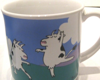 Vintage Funny Boyton Coffee Mug Cup Baryshnicows Ballet Dancing Cows
