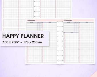 Cleaning happy planner inserts printable (cleaning inserts, cleaning schedule, cleaning planner, cleaning checklist, arc planner)