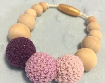 Purple Teething and Nursing Bracelet