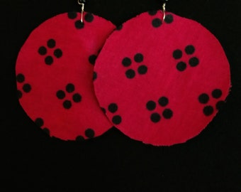 Fuchsia Kanga Earrings