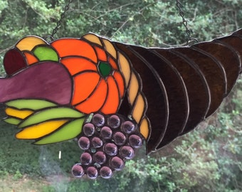 Stained Glass Thanksgiving Cornucopia