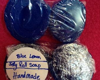 Blue Lemon Rolled Soap