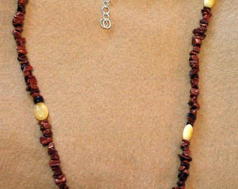 "KCN-5003 - 24"" Goldstone Necklace"