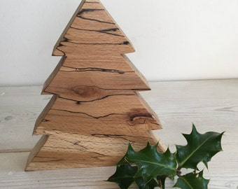 Christmas tree, wooden Christmas decoration, branched Christmas tree shape, Christmas ornament, xmas decorations, natural, handmade, unique,