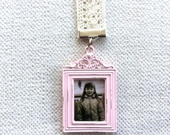 Pink or White Picture Frame Bookmark