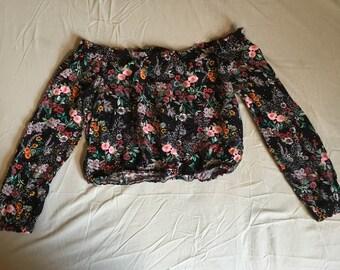 Floral Print Crop Top Size US 4