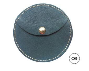 Round purse blue