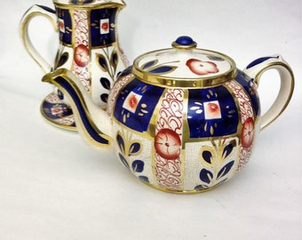 Sale-Antique Sudlow's Discountinued China Teapot, Plate and Pitcher
